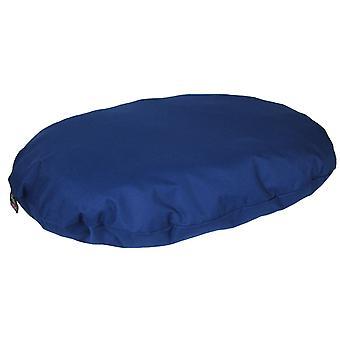 Country Dog Heavy Duty Waterproof Oval Cushion Blue 95x70x15cm
