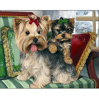 Collection D'Art Diamond Embroidery/Printed/Gem Kit 48X38cm-Yorkshire Terriers DE489