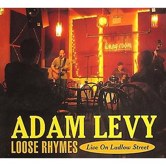 Adam Levy - løs Rhymes-Live på Ludlow Street [CD] USA import