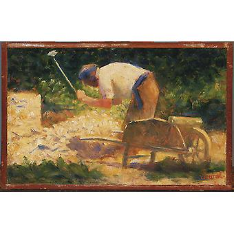 Georges Seurat - The Stone Breaker Poster Print Giclee