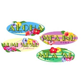 Hawaiian Sign Cutout Printed (4 In A Pack)