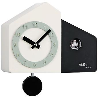 fashionable wall clock Quartz White cuckoo clock pendulum wooden cabinet and painted black