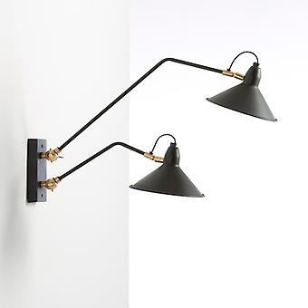 Wellindal Aplique 66x19x30 Metal Negro y Bronce (Home , Lighting , Wall sconces)
