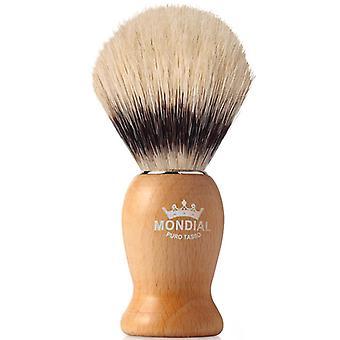 Mondial 1908 Boar Bristle Shaving Brush Wood