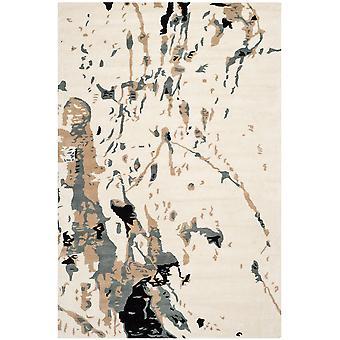 Lila Ivory & grå abstrakt uld tæppe - Safavieh