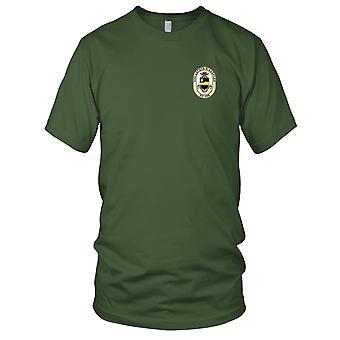 E.U. da Marinha USS DD-968 Arthur W Radford bordada Patch - Mens T-Shirt