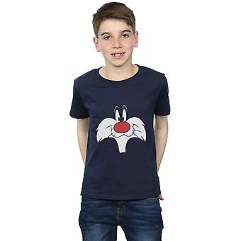 Looney Tunes Boys Sylvester Big Face T-Shirt