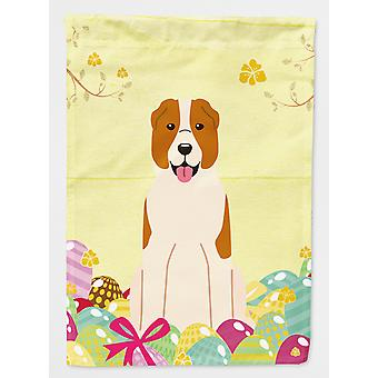 Easter Eggs Central Asian Shepherd Dog Flag Canvas House Size