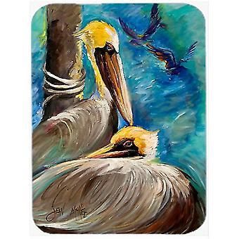 Carolines Treasures  JMK1145LCB Pelicans Remembering Glass Cutting Board Large