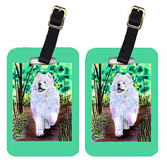 Carolines Treasures  SS8458BT Pair of 2 Samoyed Luggage Tags