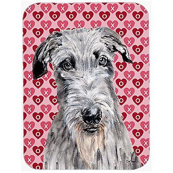 Scottish Deerhound Hearts and Love Mouse Pad, Hot Pad or Trivet