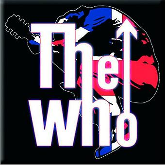 The Who Fridge Magnet Leap band Logo new Official 76mm x 76mm