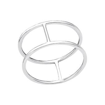 Double Line - 925 Sterling Silver Plain Rings - W33821X
