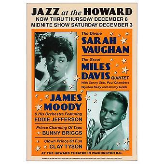 Sarah Vaughan & Miles Davis Jazz at the Howard Poster Print (17 x 24)
