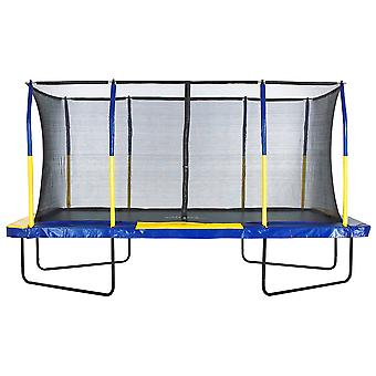 Upper Bounce® Easy Assemble Mega 9' X 15' Rectangular Trampoline, with Fiber Flex Enclosure System