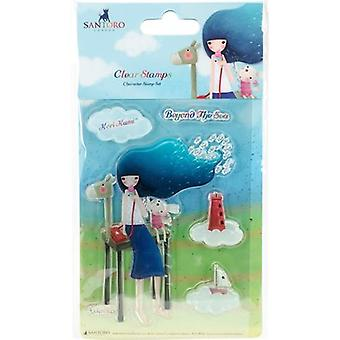 Santoro Kori Kumi II A6 Character Stamps-Beyond The Sea SKKSTMP6