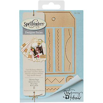 Spellbinders Shapeabilities Dies-Shortie Tags S4725