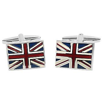 Zennor Union Jack Cufflinks - Red/Blue/White