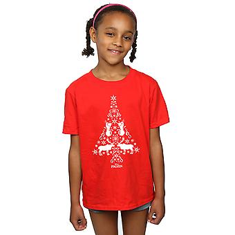 Disney Girls Frozen Christmas Tree T-Shirt