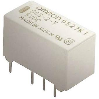 PCB relays 5 Vdc 2 A 2 change-overs Omron G6S-2 5