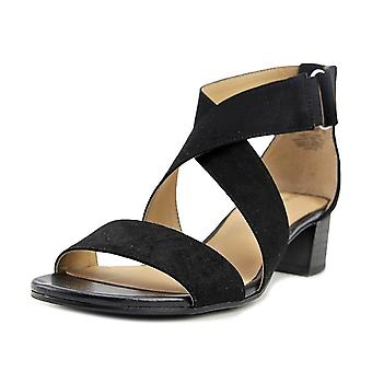Naturalizer Womens Adele Fabric Open Toe Casual Ankle Strap Sandals