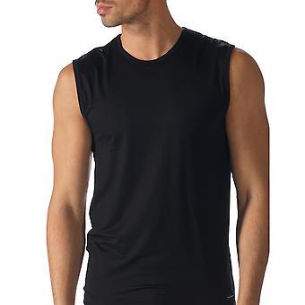 Mey 34237-123 Men's Network Black Solid Colour Tank Vest Top