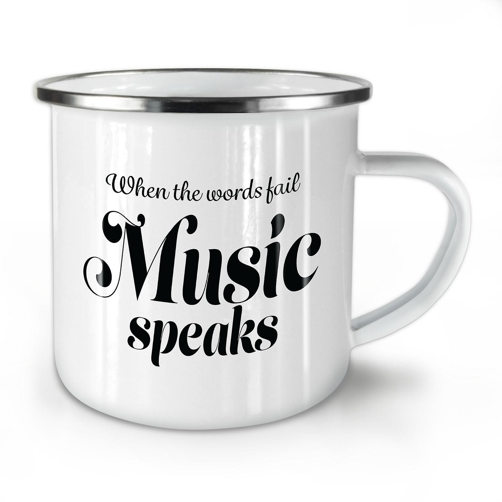 Nouveau Whitetea Café OzWellcoda Musique Mot Émail Fail Mug10 Parle OkuwPiTXZ