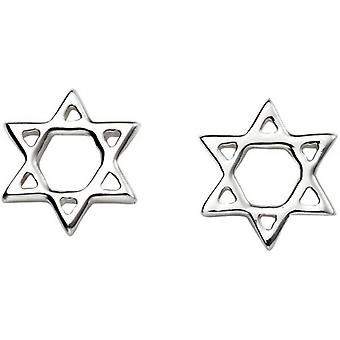 Beginnings Star of David Stud Earrings - Silver
