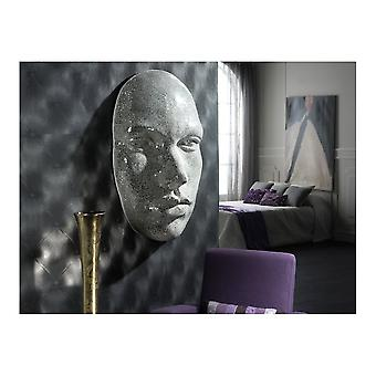 Schuller Faz Large Silver Mirror Mosaic Wall Art Face