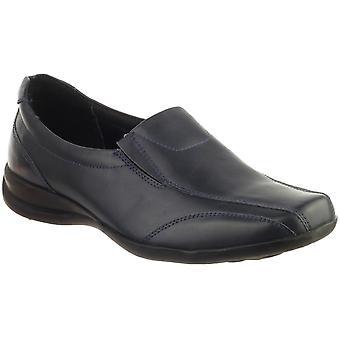 Amblers damer damer Slip-On Twin kile skinn Slip på skoen marinen