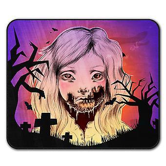 Girl Face Skeleton  Non-Slip Mouse Mat Pad 24cm x 20cm | Wellcoda