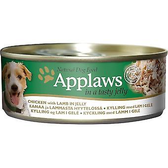 Applaws hund kan mad kylling med lam i Jelly 156g (Pack af 16)