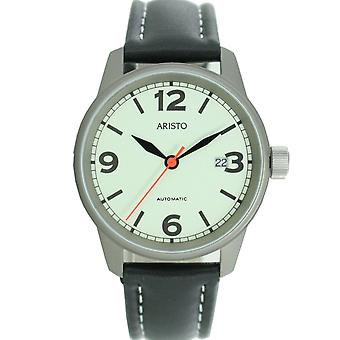 Aristo men's watch automatic 5H69Ti leather watch