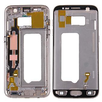 Gehäuse Rahmen Deckel kompatibel Samsung Galaxy S7 G930 G930F + Klebepad Gold