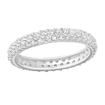 Pave Diamond - 925 Sterling Silver Jewelled Rings - W36512X