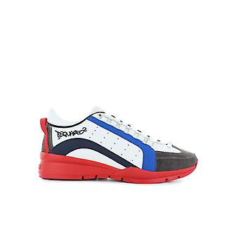 DSQUARED2 551 BLUE RED SNEAKER