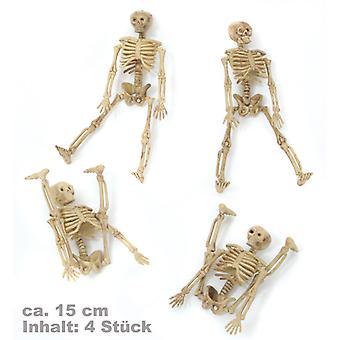 Skeleton decoration, 4er set size approx. 15cm bone man of bones skull Halloween