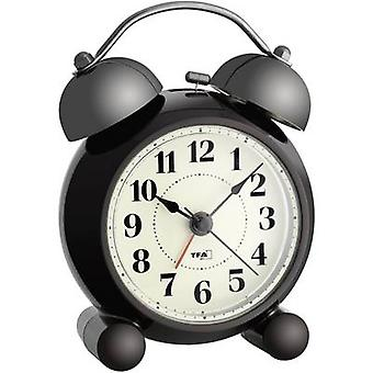 TFA 60.1014 Quartz Alarm clock Dark brown Alarm times 1