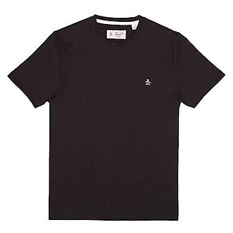 Original Penguin SS Pin Point T-Shirt - True Black