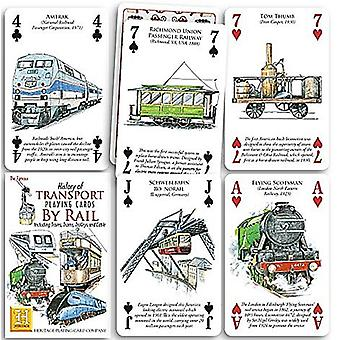 History Of Transport - Rail Set Of 52 Playing Cards (+ Jokers)