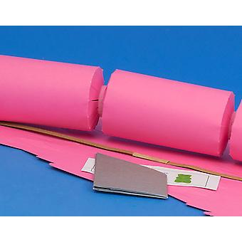 Single Jumbo Rose Pink Make & Fill Your Own Cracker Making Craft Kit