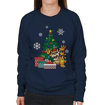 Bowser Around The Christmas Tree Women's Sweatshirt