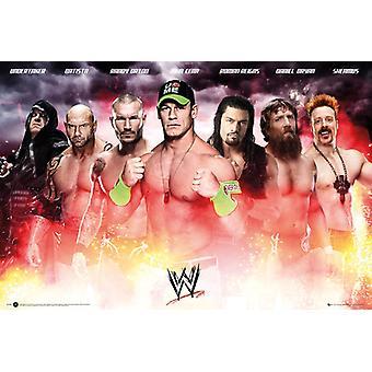 WWE-Collage 2014-Poster-Plakat-Druck
