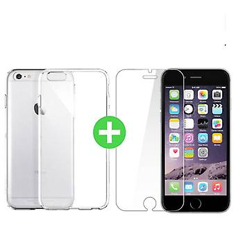 Stuff Certified ® iPhone 6 Plus Transparent TPU Case + Screen Protector Tempered Glass