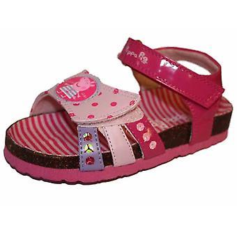 البنات الأطفال Peppa الخنزير برق الحرف صندل UK5 الأحذية