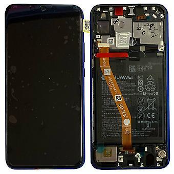 Huawei afficheur LCD + châssis pour P smart plus Service Pack 02352BUH violet / IRIS violet neuf