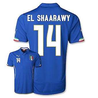 2014-15 Italië World Cup Home Shirt (El Shaarawy 14)