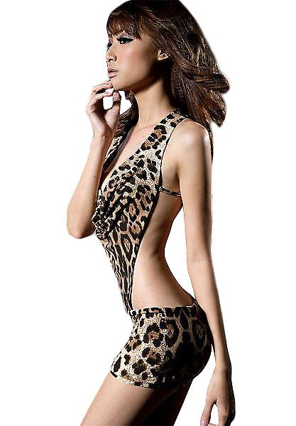 Waooh 69 - Dress Sexy Leopard Halter And Angel Pon De