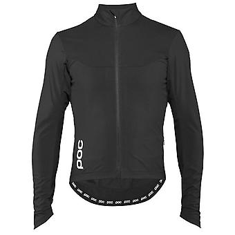 POC Uranium Black 2018 Essential Road Windproof Long Sleeved Cycling Jersey