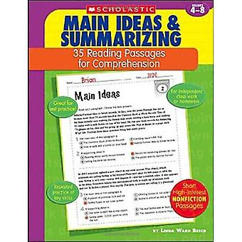 Main Ideas & Summarizing: Grades 4-8 (35 Reading Passages for Comprehension)
